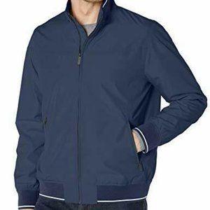 PERRY ELLIS Water Resistant Stripe Band Jacket